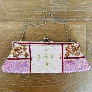 Beaded Clutch | Pink